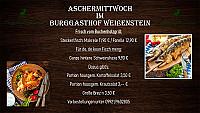 Almwirt Burggasthof Burgkeller Weissenstein menu