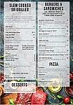 Criterion Tavern menu