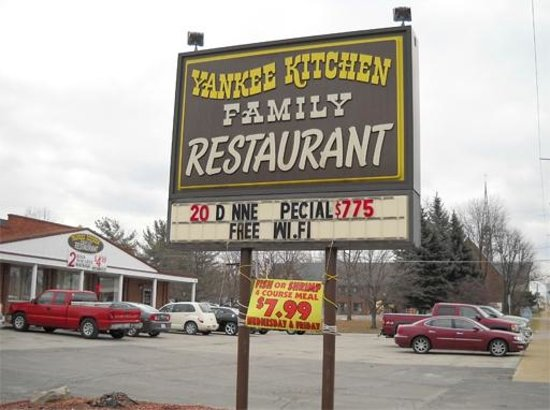 Yankee Kitchen From Youngstown Menu