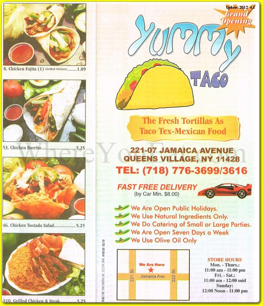 Yummy Taco from Queens Village Menu