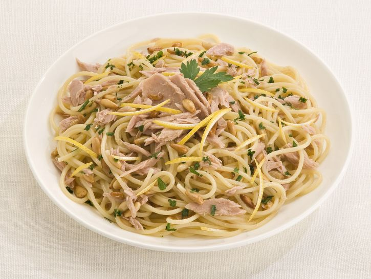 Foto der Schale Spaghetti Tonno