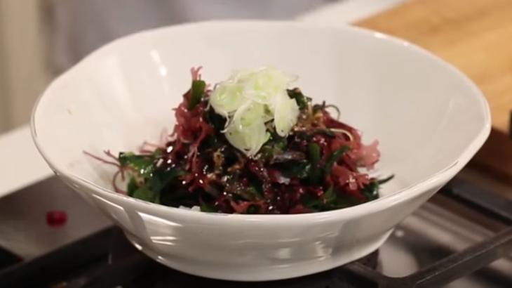 Foto der Schale Kaiso Salat