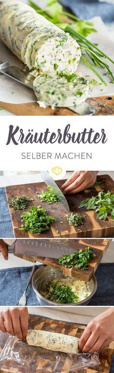 Foto der Schale Portion Kräuterbutter