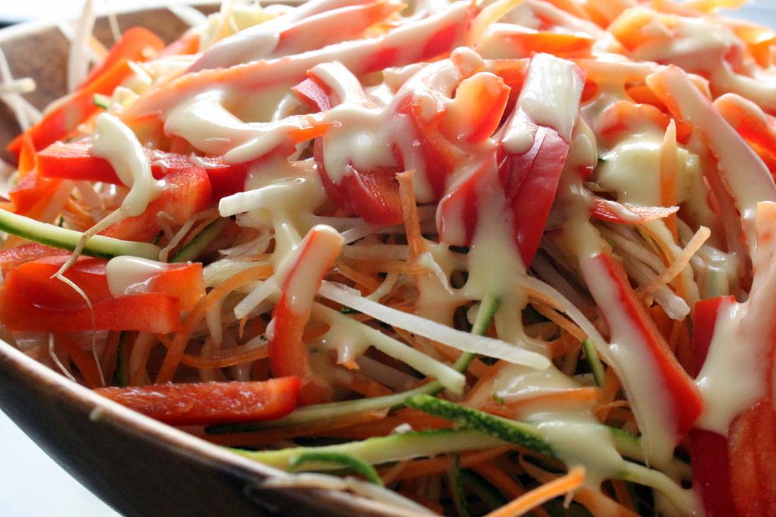 Foto der Schale Sojasprossen Salat