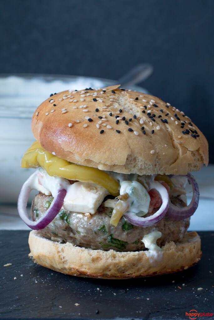 Foto der Schale Griechischer Burger
