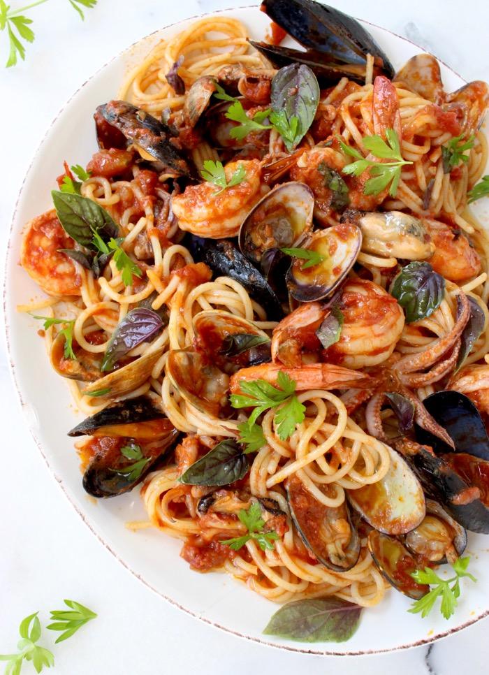 Foto der Schale Spaghetti ai Frutti di Mare