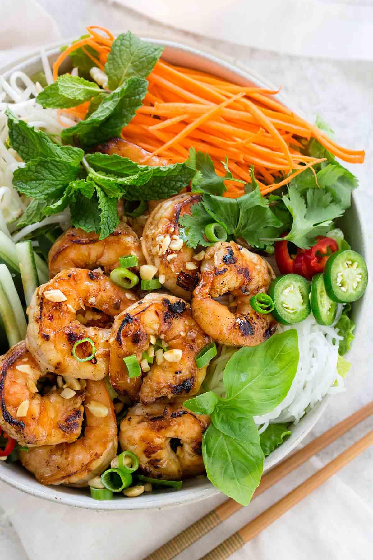 Foto der Schale Shrimpssalat