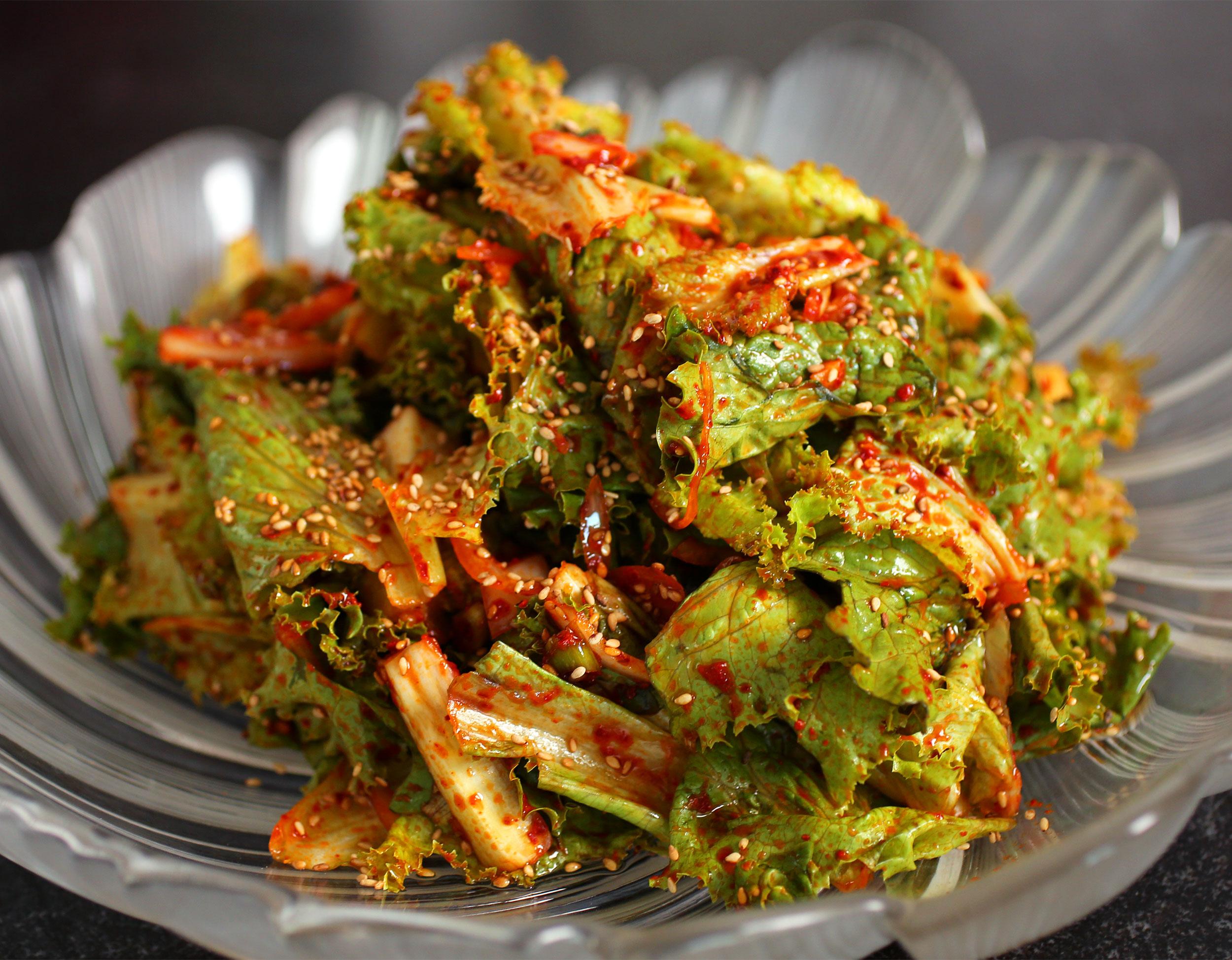 Foto der Schale Kimchi Salat