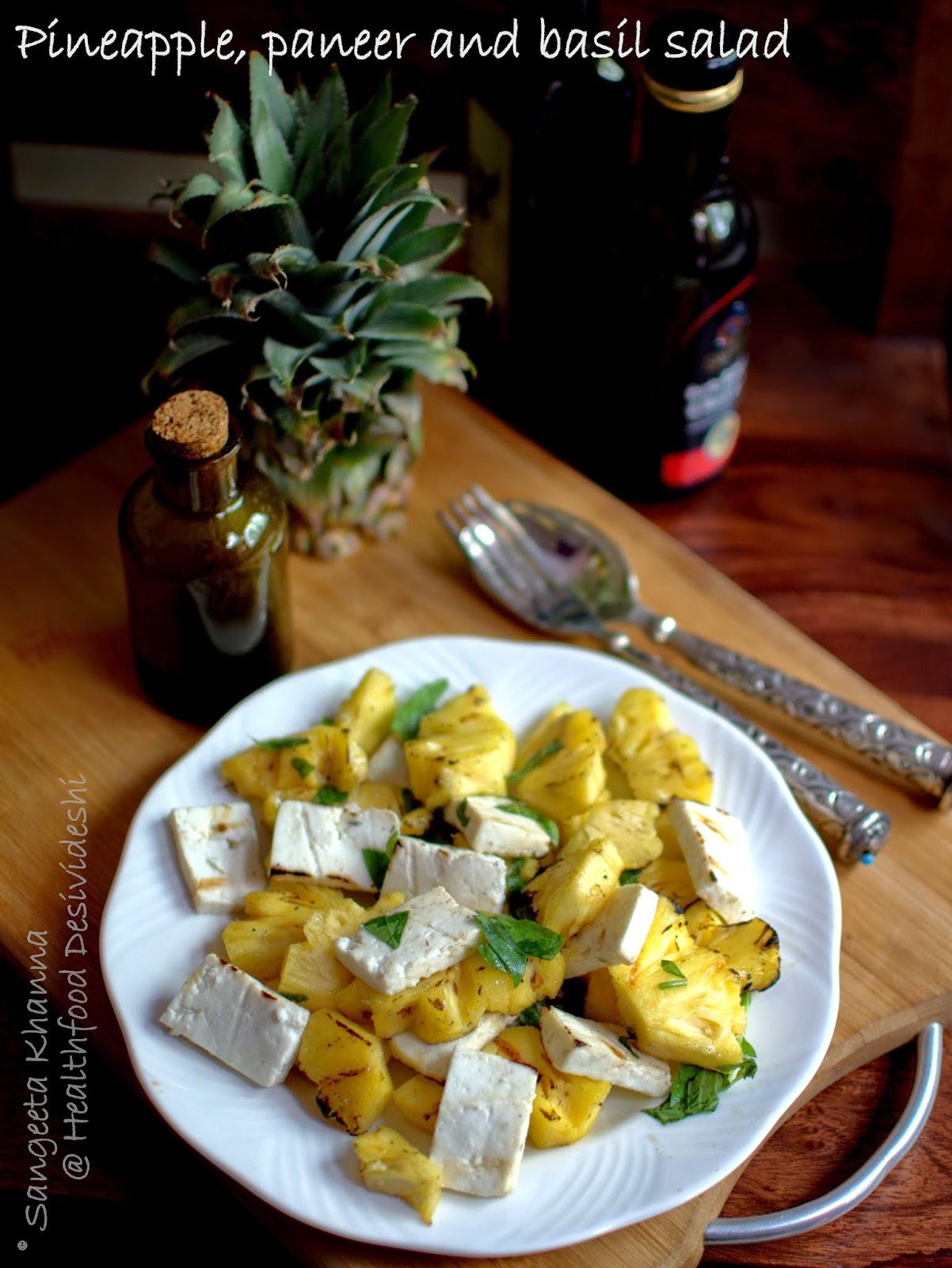 Foto der Schale Paneer Salat