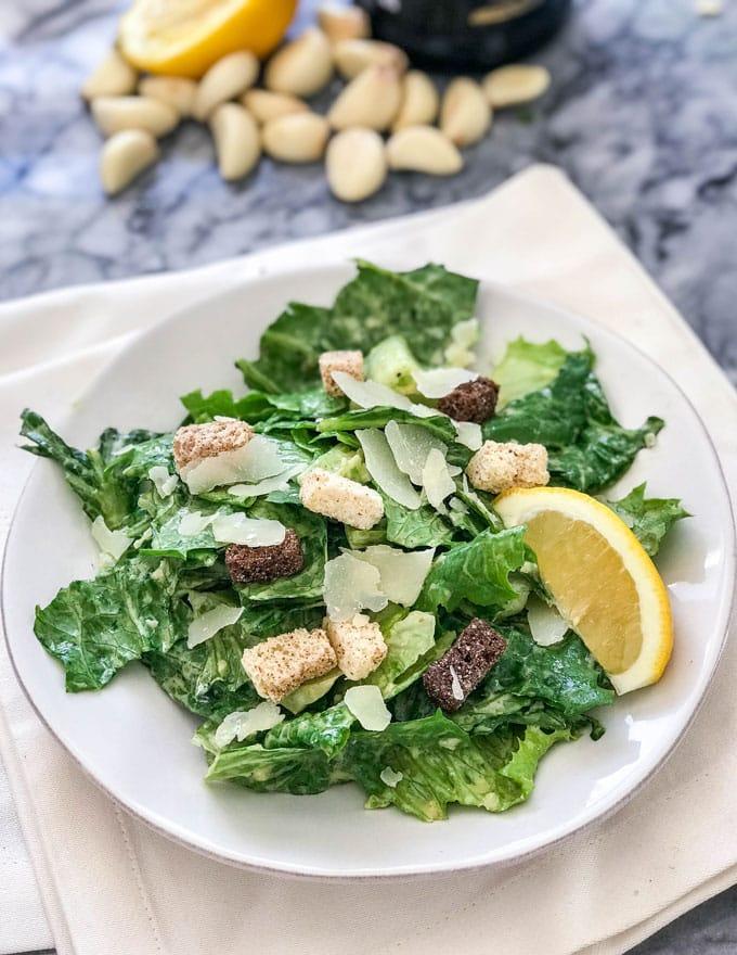 Foto der Schale Ceasar Salat