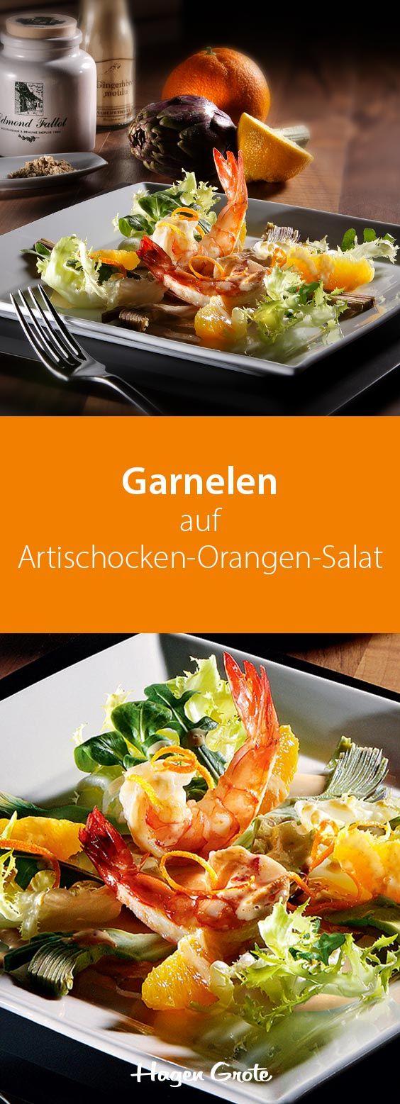 Foto der Schale Salat Garnelen