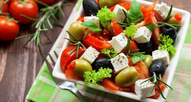 Foto der Schale Salat Greece