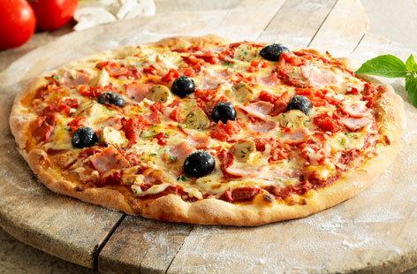 Foto der Schale Pizza Schinken