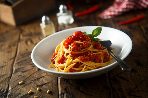 Foto der Schale Pasta Napoli