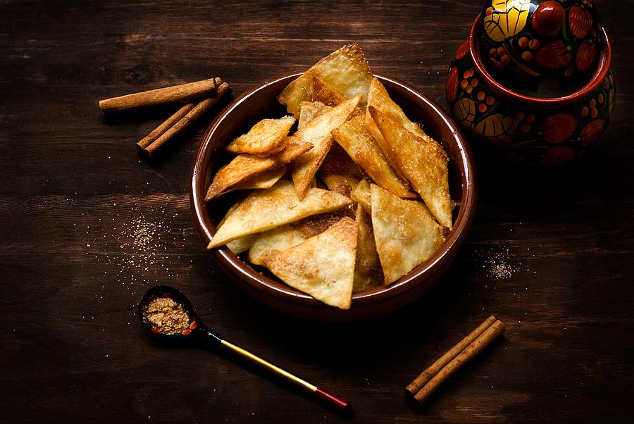 Foto der Schale Quesadillas chips