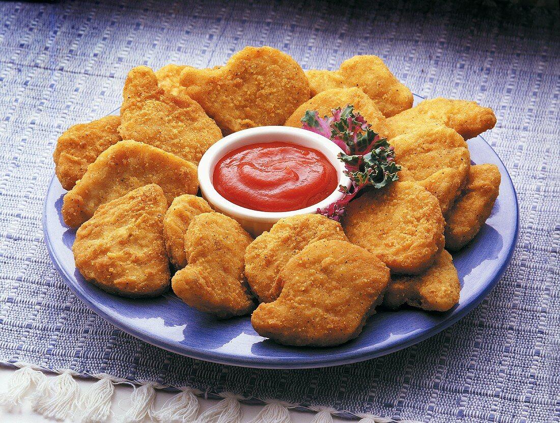 Foto der Schale Chicken Nuggets