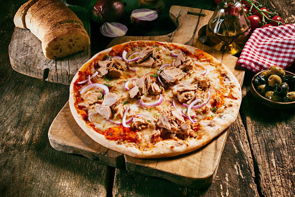 Foto der Schale Pizza Tonno