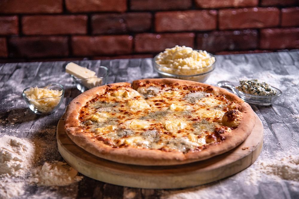 Foto der Schale Pizza Quattro Formaggi