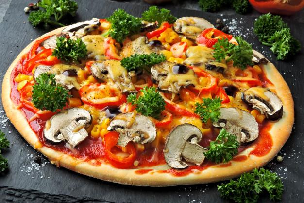 Foto der Schale Pizza Vegetaria