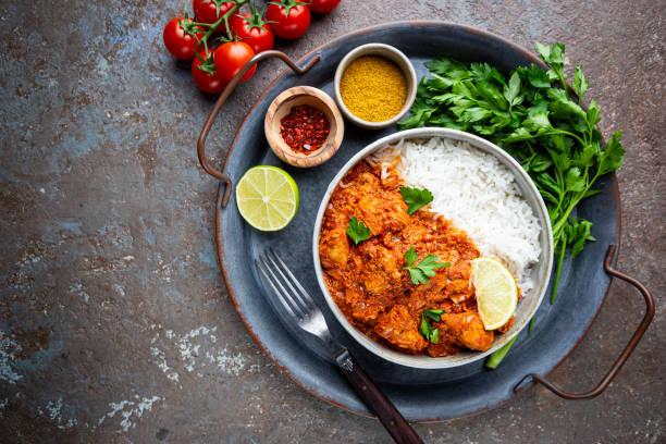 Foto der Schale Chicken Curry