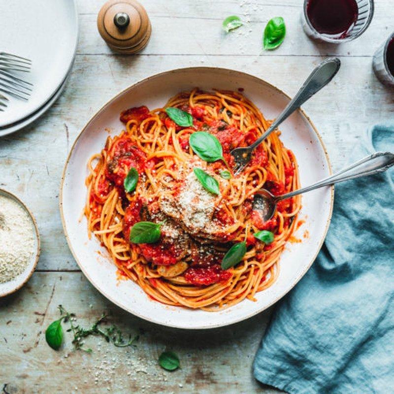 Foto der Schale Spaghetti Napoli