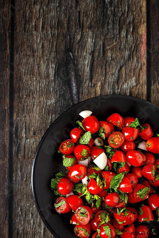 Foto der Schale Tomatensalat