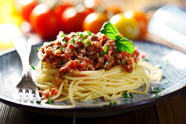 Foto der Schale Pasta Bolognese