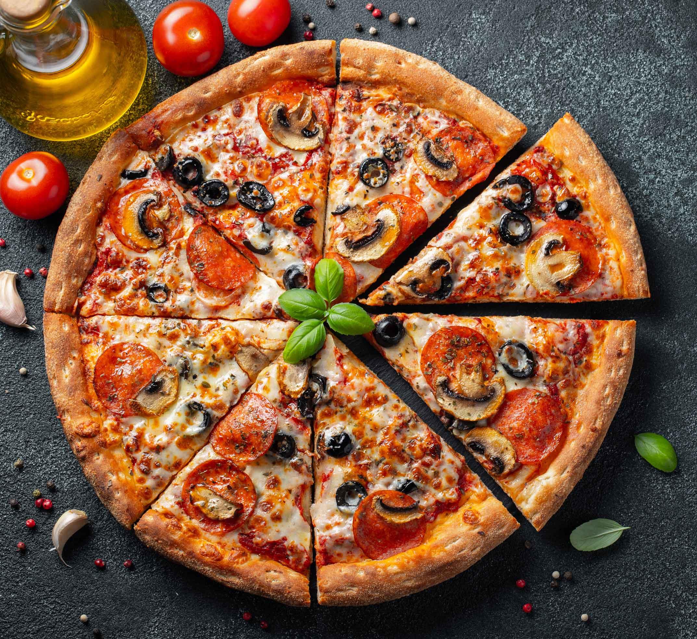 Foto der Schale Pizza Sucuk