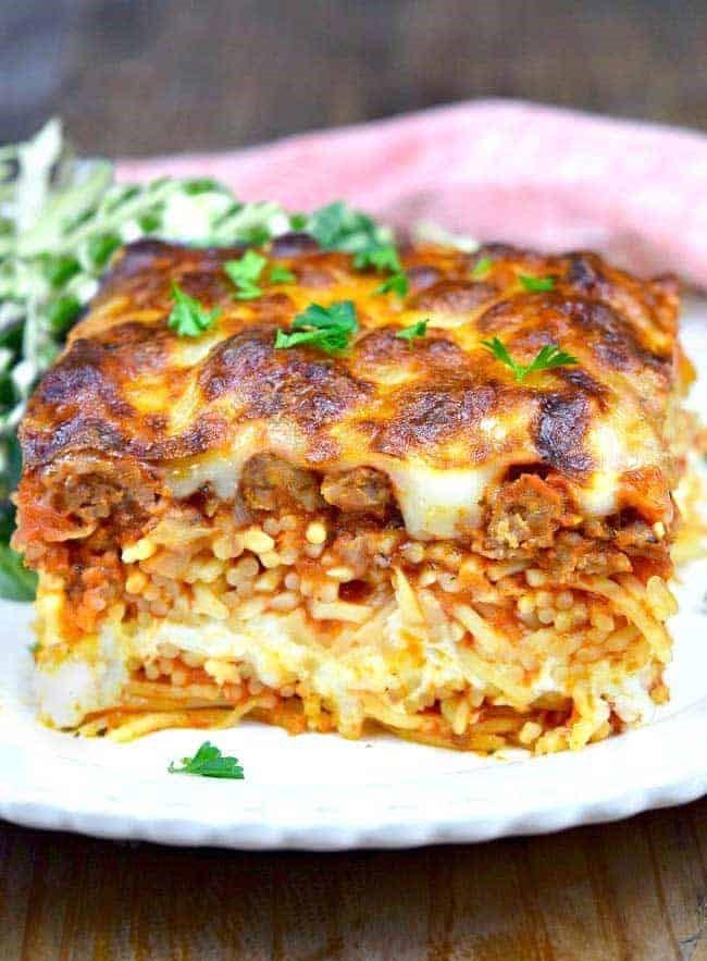 Foto der Schale Spaghetti