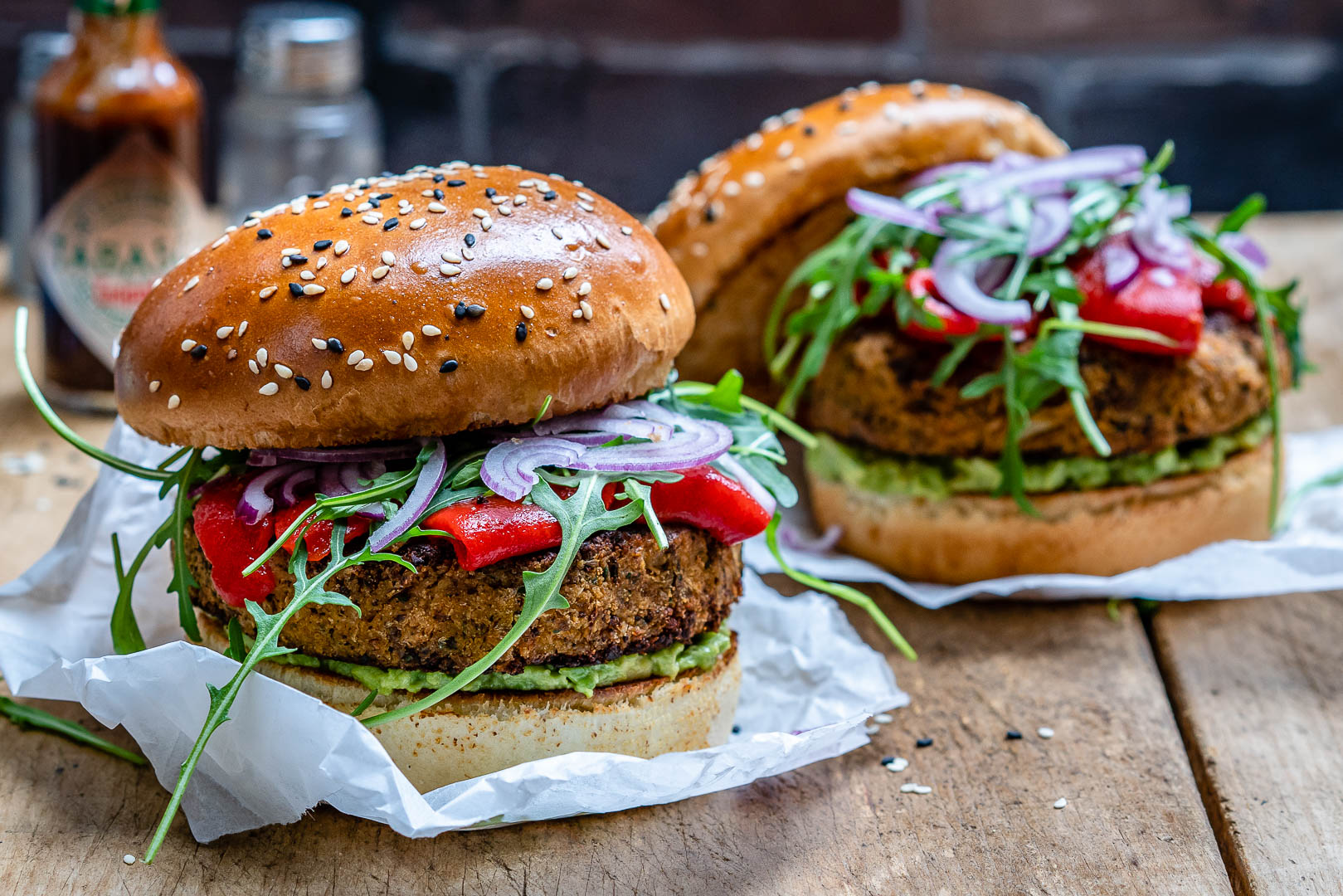 Foto der Schale Gemüse-Burger