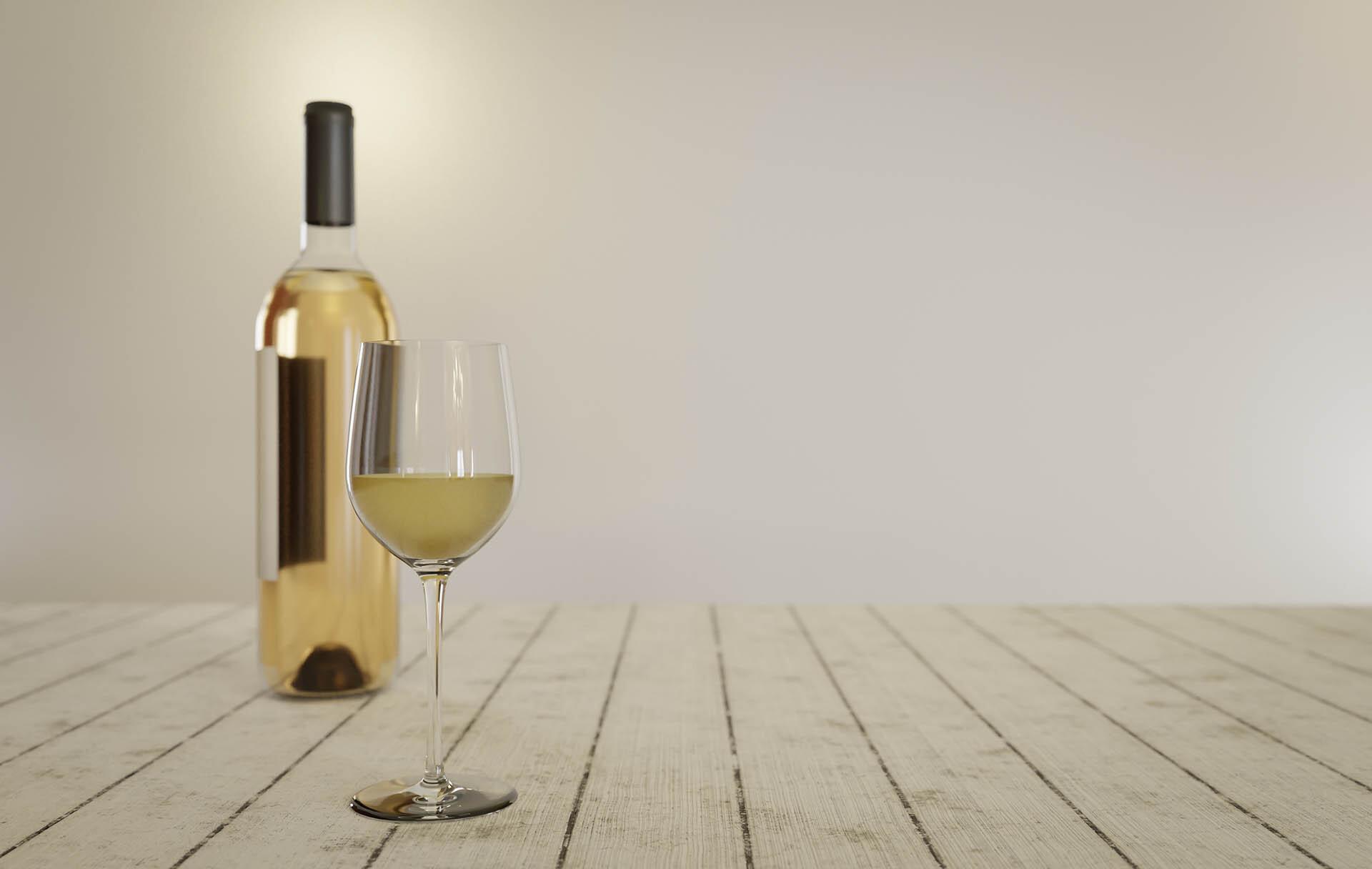 Foto der Schale Weißwein
