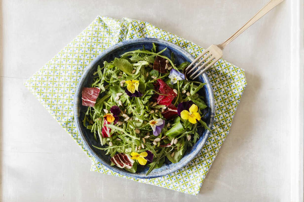 Foto der Schale Rucola Salat