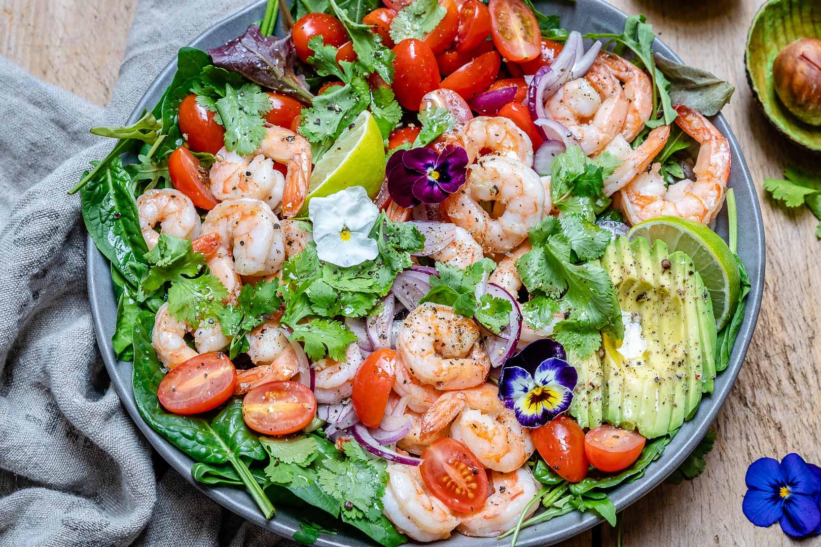 Foto der Schale Meeresfrüchte-Salat