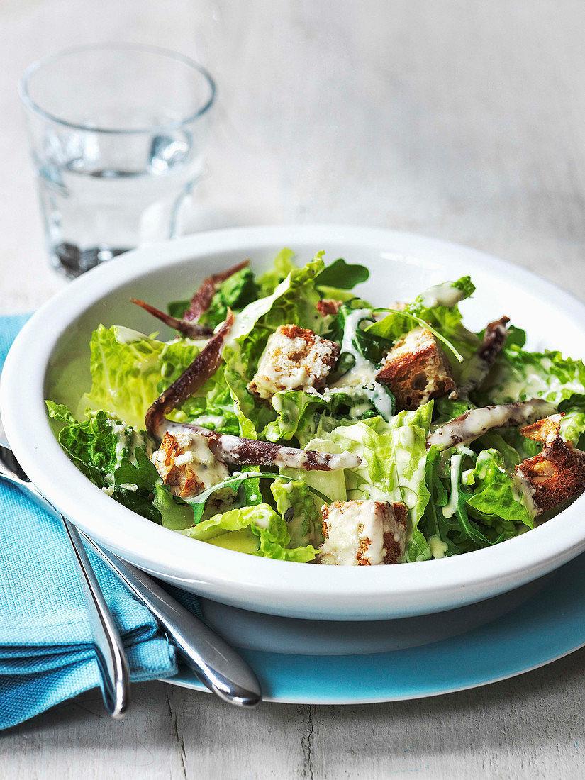 Foto der Schale Caesar Salat