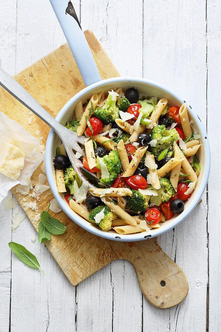Foto der Schale Pasta Vegetarisch
