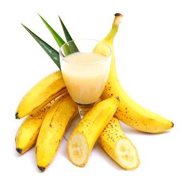 Foto der Schale Bananensaft