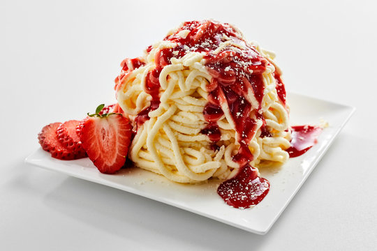 Foto der Schale Spaghettieis