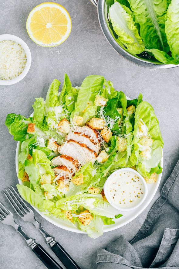 Foto der Schale Chicken Salat