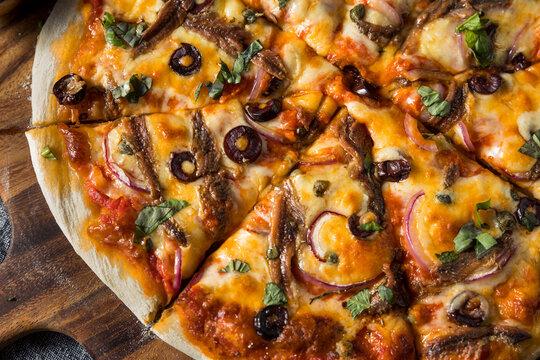 Foto der Schale Pizza Sardellen