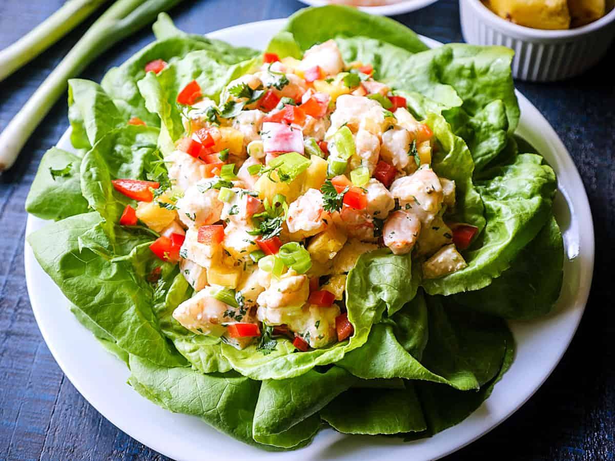 Foto der Schale Salat Hawaii