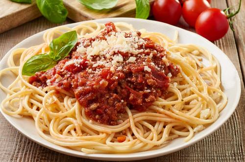 Foto der Schale Spaghetti Bolognese