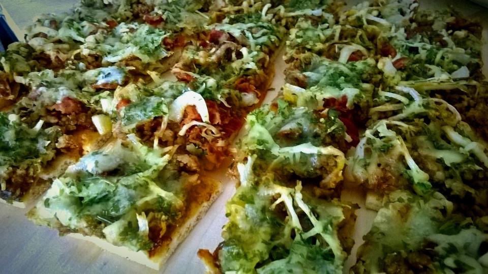 Foto der Schale Pizza Mexiko