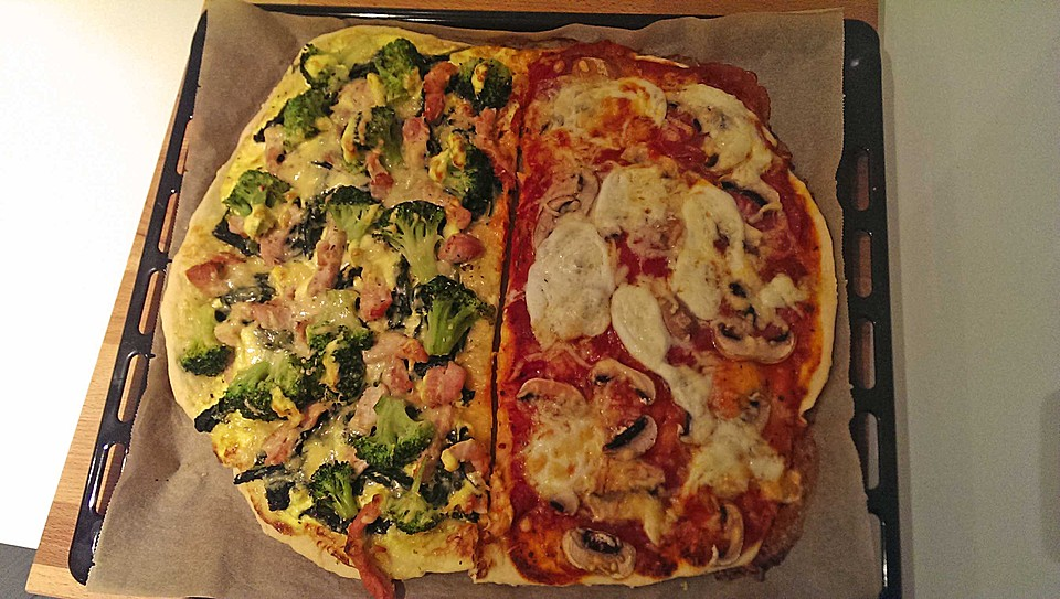Foto der Schale Pizza Boston