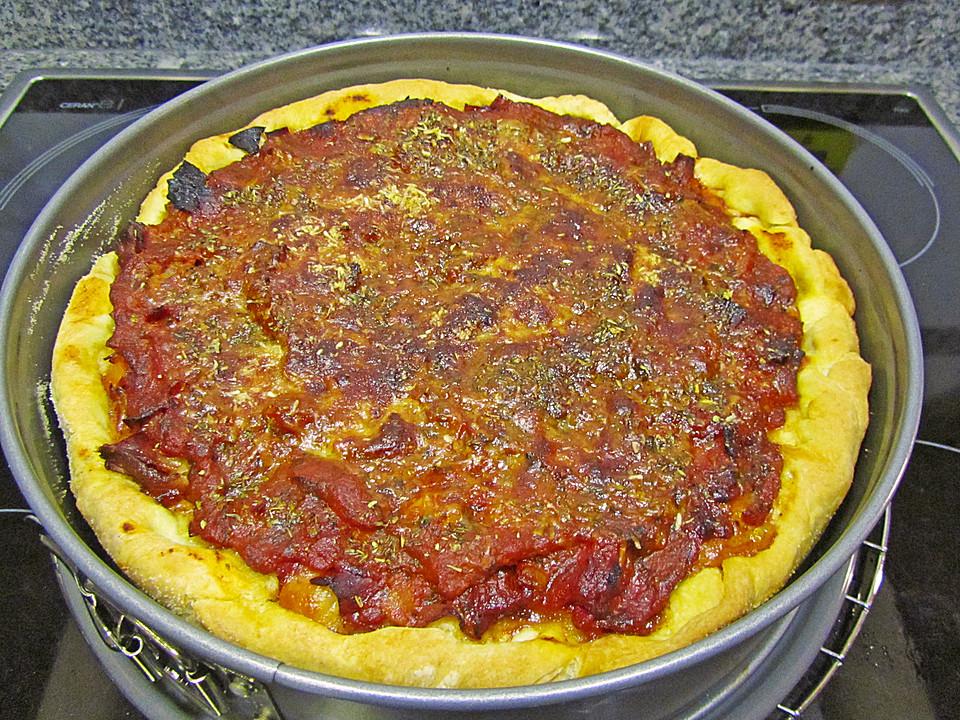Foto der Schale Pizza Chicago