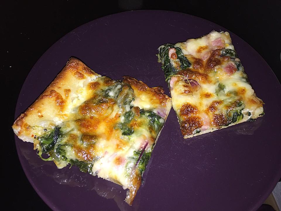Foto der Schale Pizza Popeye