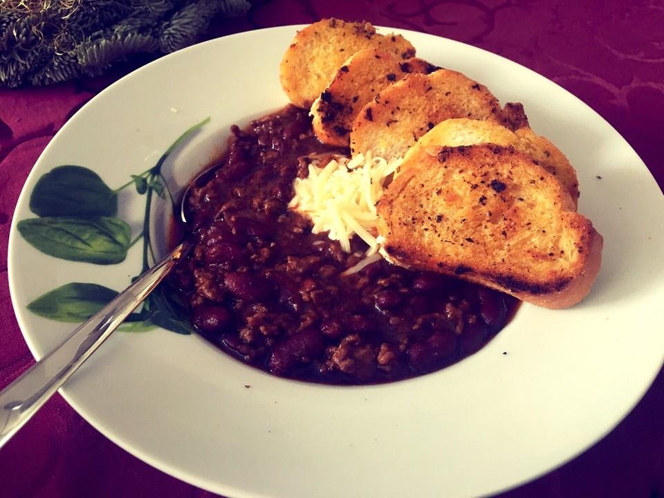 Foto der Schale Chili con Carne