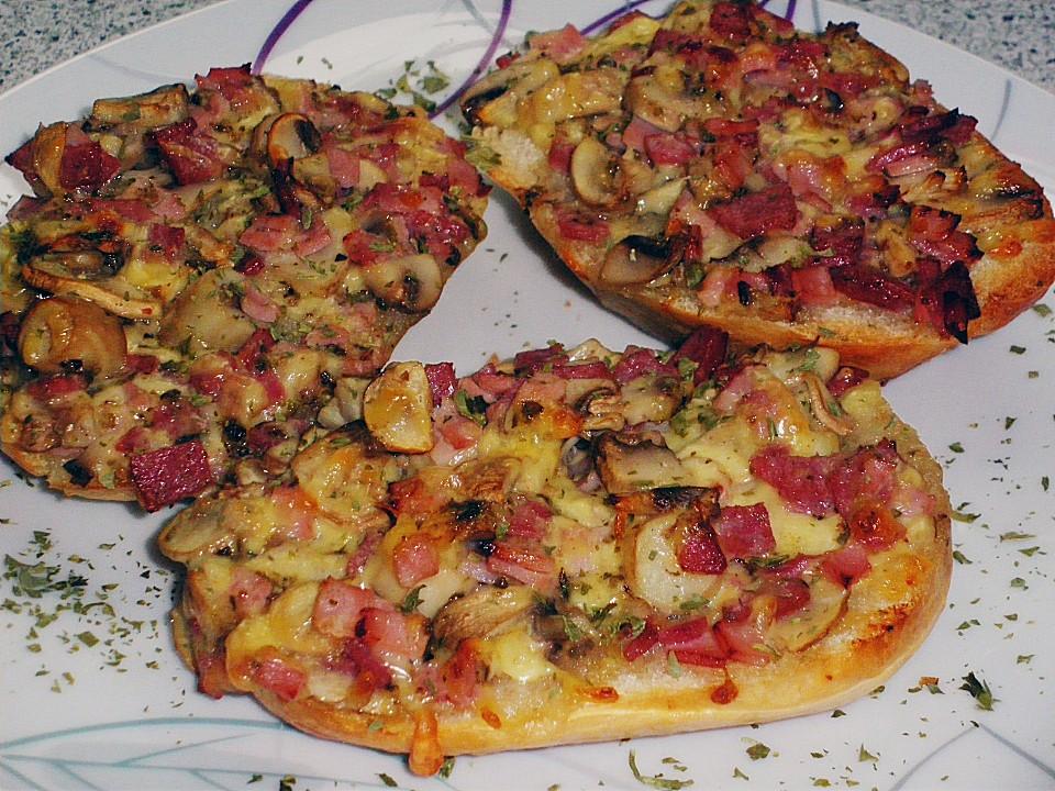 Foto der Schale Pizzabrötchen